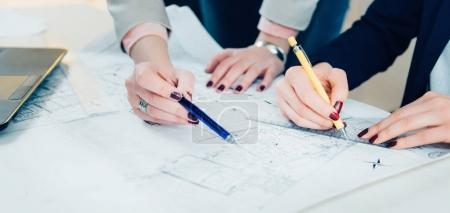 architects explaining project in the office
