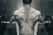 male athlete at Weightlifting training