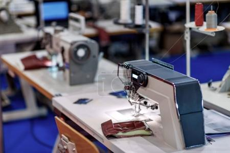 close up of sewing machine at the factory