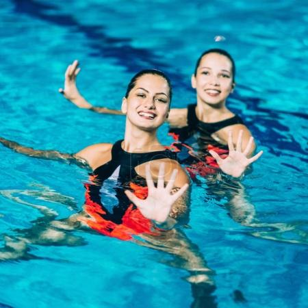 Synchronized Swimming Performance in the pool
