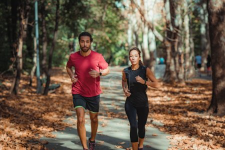 Photo for Friends Enjoy Running Outdoors - Royalty Free Image