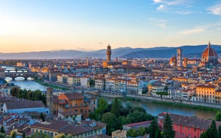 Photo for Italy,Tuscany,Florence,panoramic wiew of the city from Michelangelo large square - Royalty Free Image