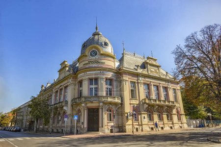 """Photo for Ruse, Bulgaria - October 21, 2017: Old city library """"Luben Karavelov"""" in Ruse, Bulgaria - Royalty Free Image"""