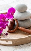 Concept of massage and purity at the spa