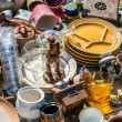 Pile of household things, various dishes and decor...