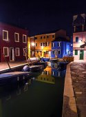 Water canal in the evening
