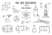 hand drawn signs of physics