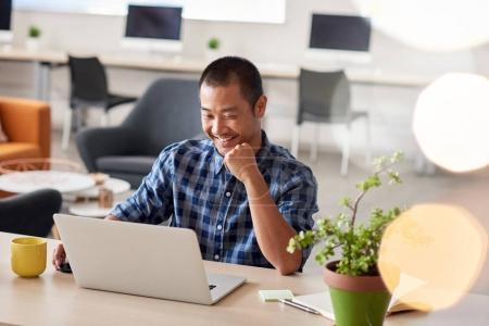 designer sitting alone at desk