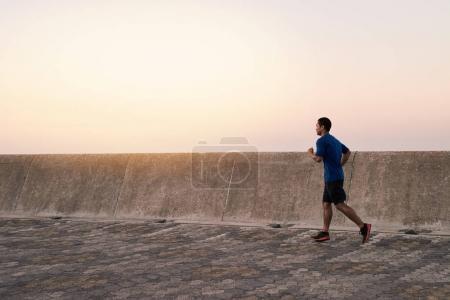 man in sportswear running