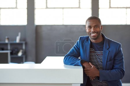 Smiling African businessman