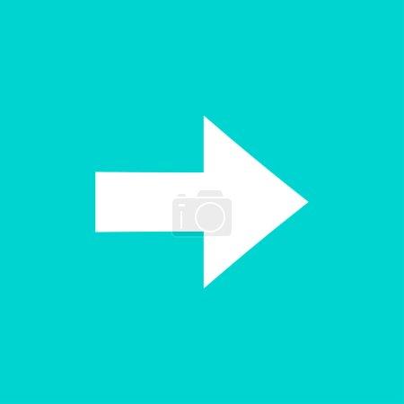 Arrow sign isolated