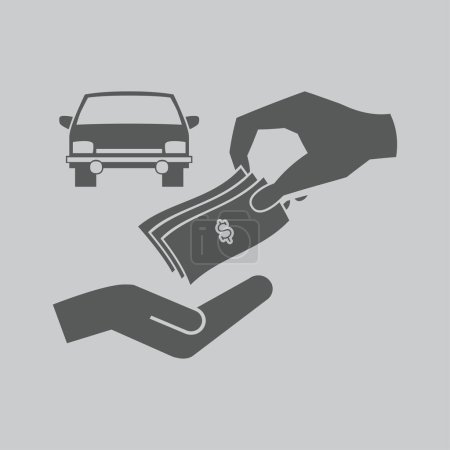 money and car   icon