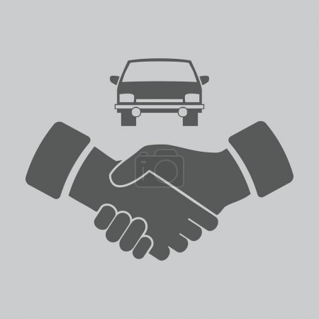 Handshake and car icon