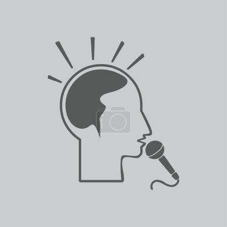 Think, microphone illustration