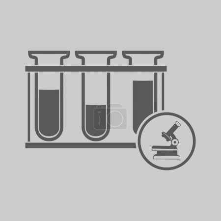 Illustration for Test tubes icon  vector illustration - Royalty Free Image