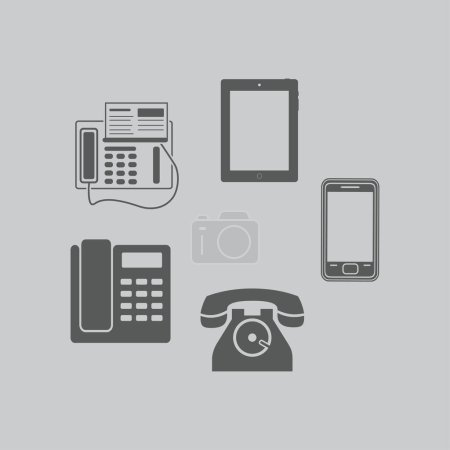 Telephone sets icons