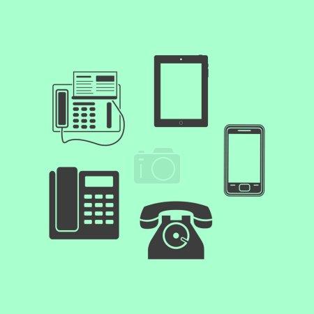telephone sets isolated