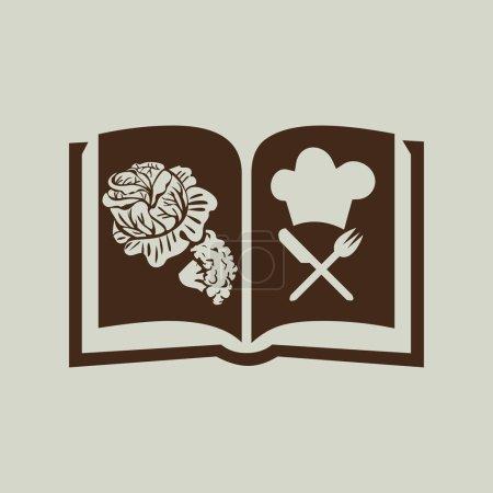Illustration pour Cuisinier icône livre signe vecteur illustration - image libre de droit