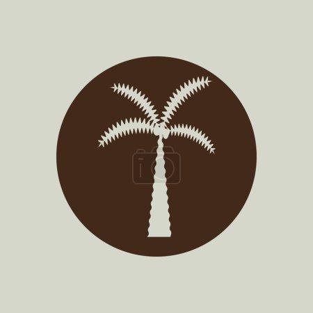 Palm tree icon sign