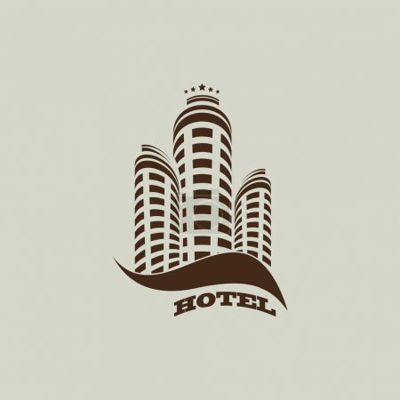 Illustration for Vector illustration of hotel simple icon - Royalty Free Image