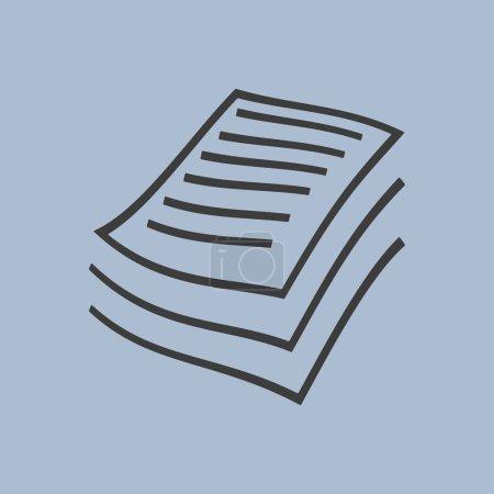 Illustration pour Fichiers de documents vecteur d'icône - image libre de droit