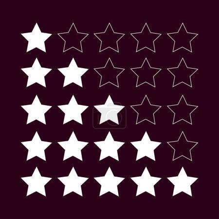Rating icon illustration