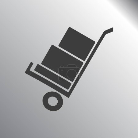 handcart icon illustration