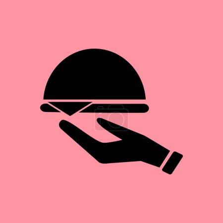 Illustration pour Serveur icône simple, illustration vectorielle - image libre de droit