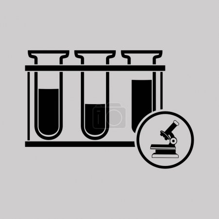 Illustration for Test tubes icon,vector - Royalty Free Image