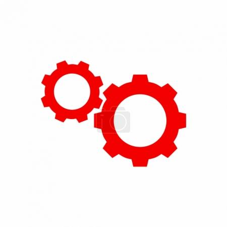 Illustration for Gears simple icon, vector illustration - Royalty Free Image