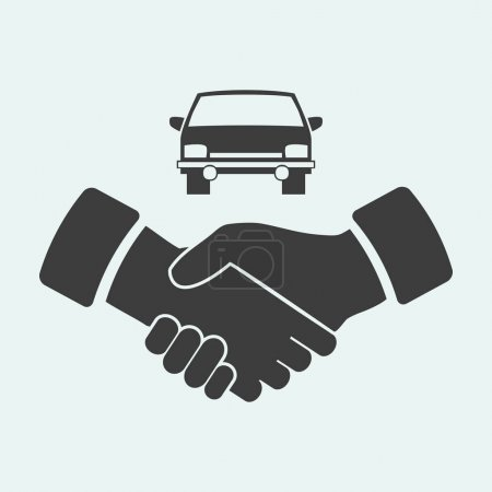 handshake and car   icon