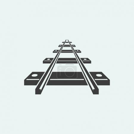 railroad icon  illustration
