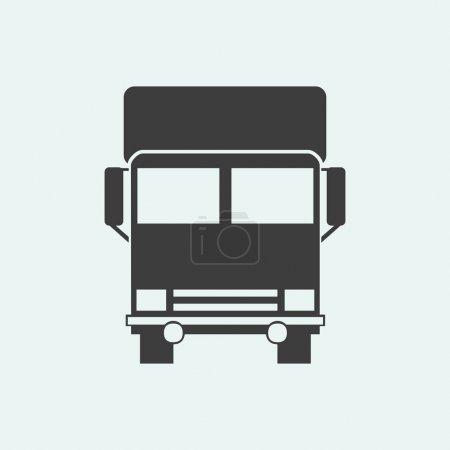 Illustration pour Icône vectorielle d'une illustration de camion - image libre de droit