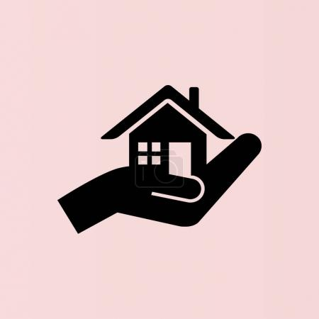 house and hand icon