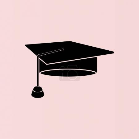 Illustration for Student hat icon vector illustration - Royalty Free Image