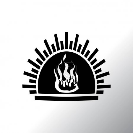 fireplace flat icon