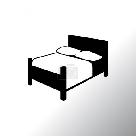 Bed icon illustration