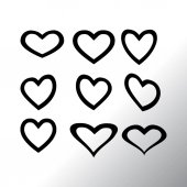 Hearts icons set vector illustration