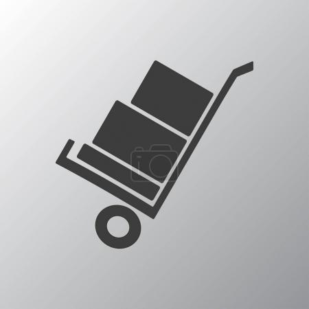 handcart flat icon