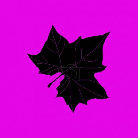 Illustration pour Silhouette Maple Leaf pour votre design. illustration vectorielle - image libre de droit