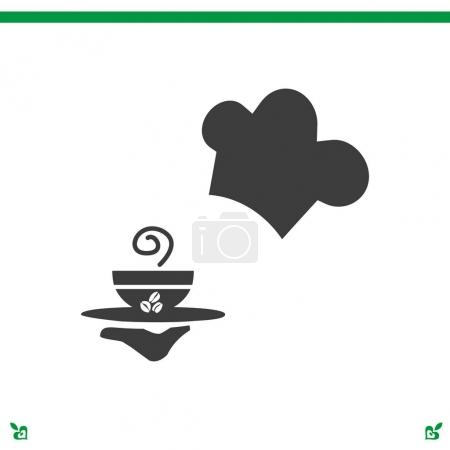 waiter with a cup of coffee