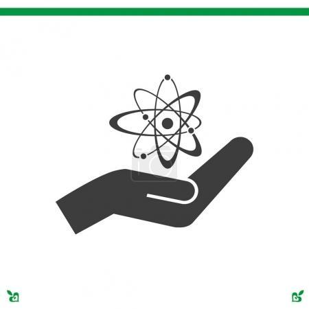 Atom sign icon