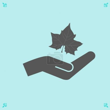 Maple Leaf Silhouette and hand