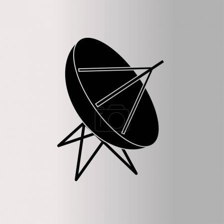 Satellite dish vector icon  illustration...