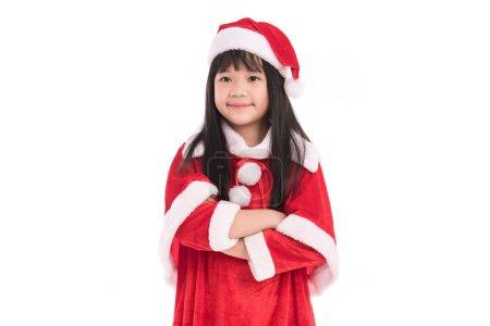 Little asian girl in christmas