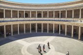 Inner courtyard of the Palace of Carlos V in the Alhambra, Grana