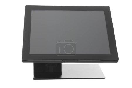 Photo pour Système de point de vente avec moniteur d'écran sur fond blanc - image libre de droit