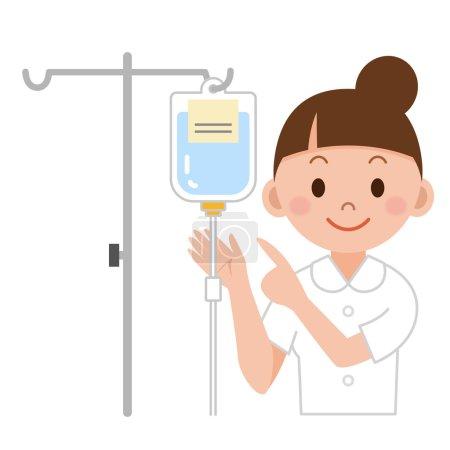 Nurse preparing IV drip