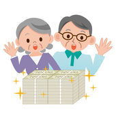 Elderly couple that surprised a lot of money