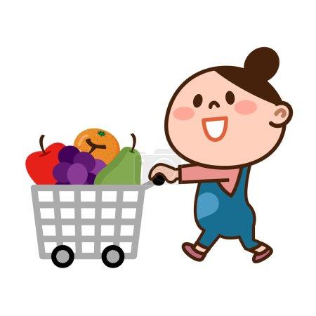 Illustration of Woman shopping
